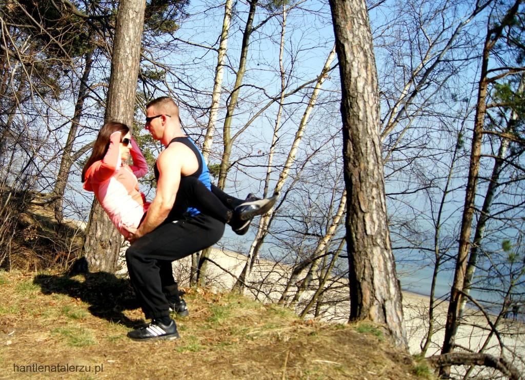 Ćwiczenie na brzuch w parze, góra